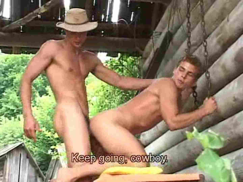 野外丸太小屋で発情する若者達。 野外・露出 ゲイ無料エロ画像 85枚 6