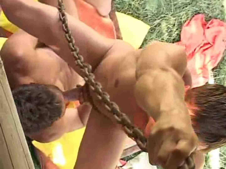 野外丸太小屋で発情する若者達。 野外・露出 ゲイ無料エロ画像 85枚 78