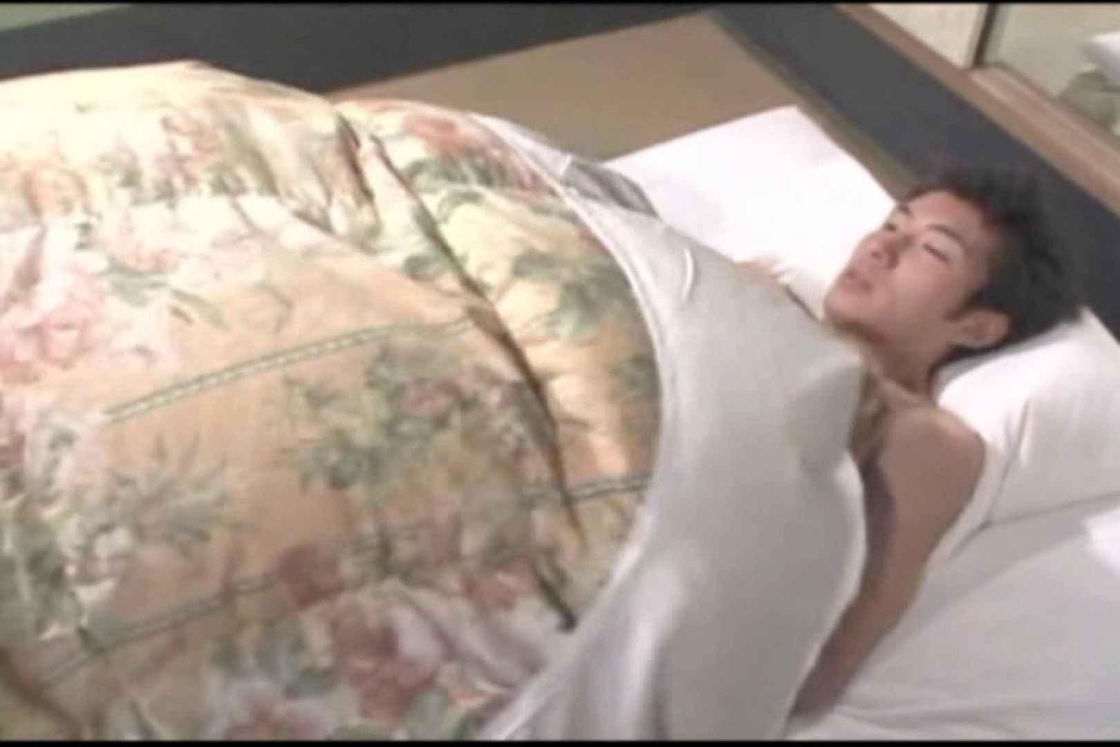 布団の中から失礼します。柔道男とガリ勉君。 男・男・男 ゲイSEX画像 89枚 3