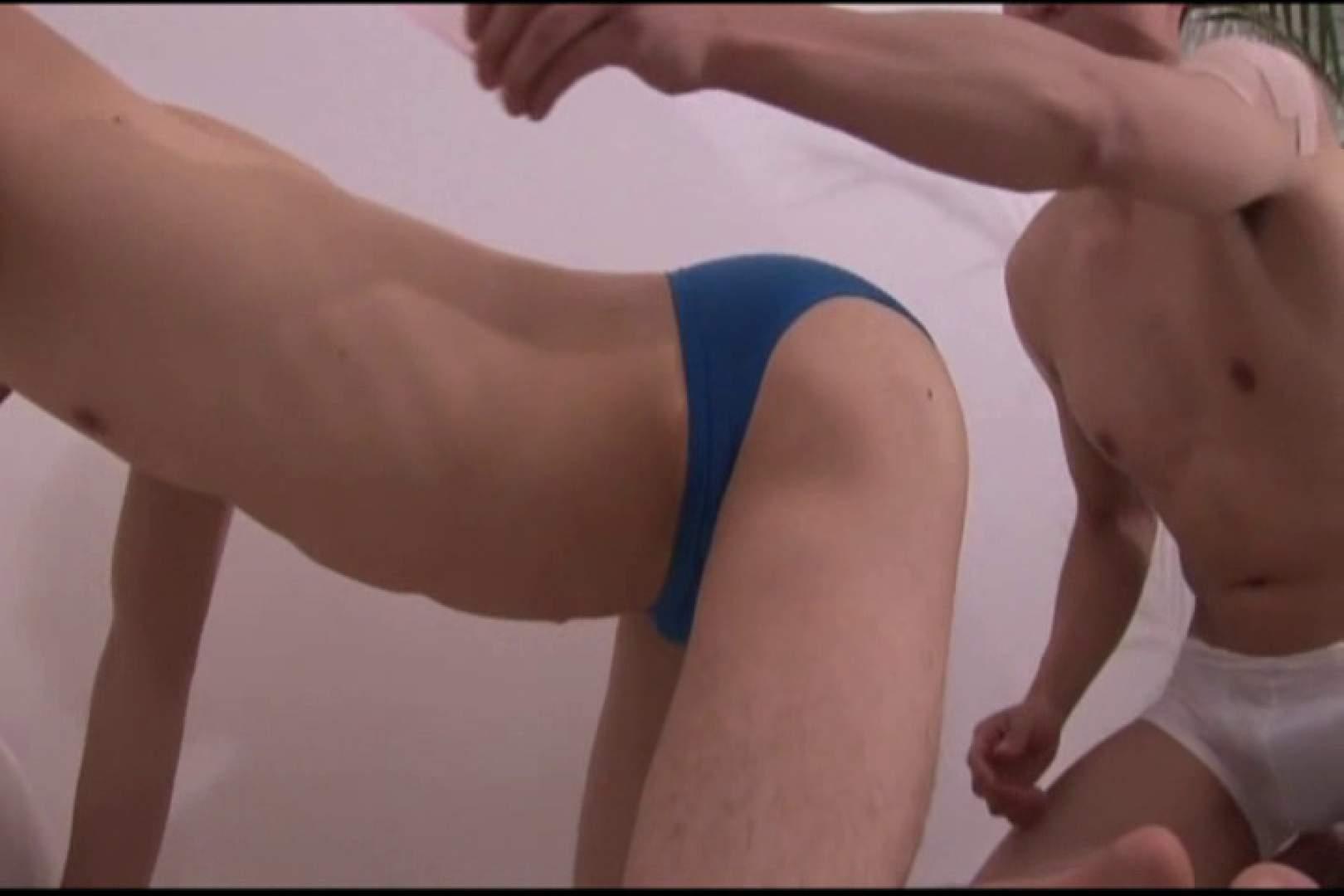 競パンに穴を開けられ...ズキュン! 水着男子 ゲイ精子画像 63枚 29