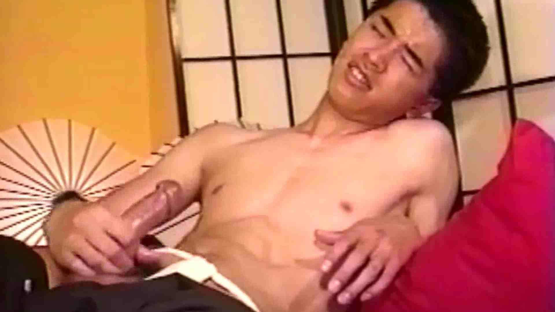 畳の上で和風オナニー スポーツ系男子 ゲイ無修正画像 64枚 40
