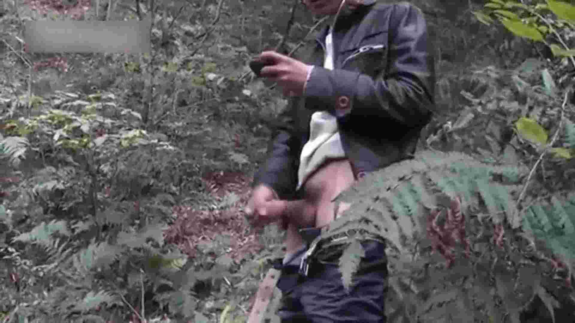 森林浴とオナニー 露出シーン ゲイAV画像 92枚 54